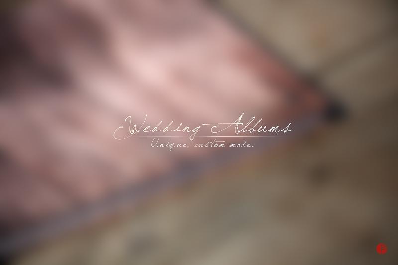 unique, custom made wedding albums